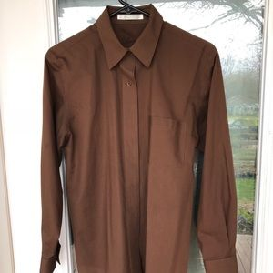 EUC FOXCROFT WRINKLE FREE BUTTON UP